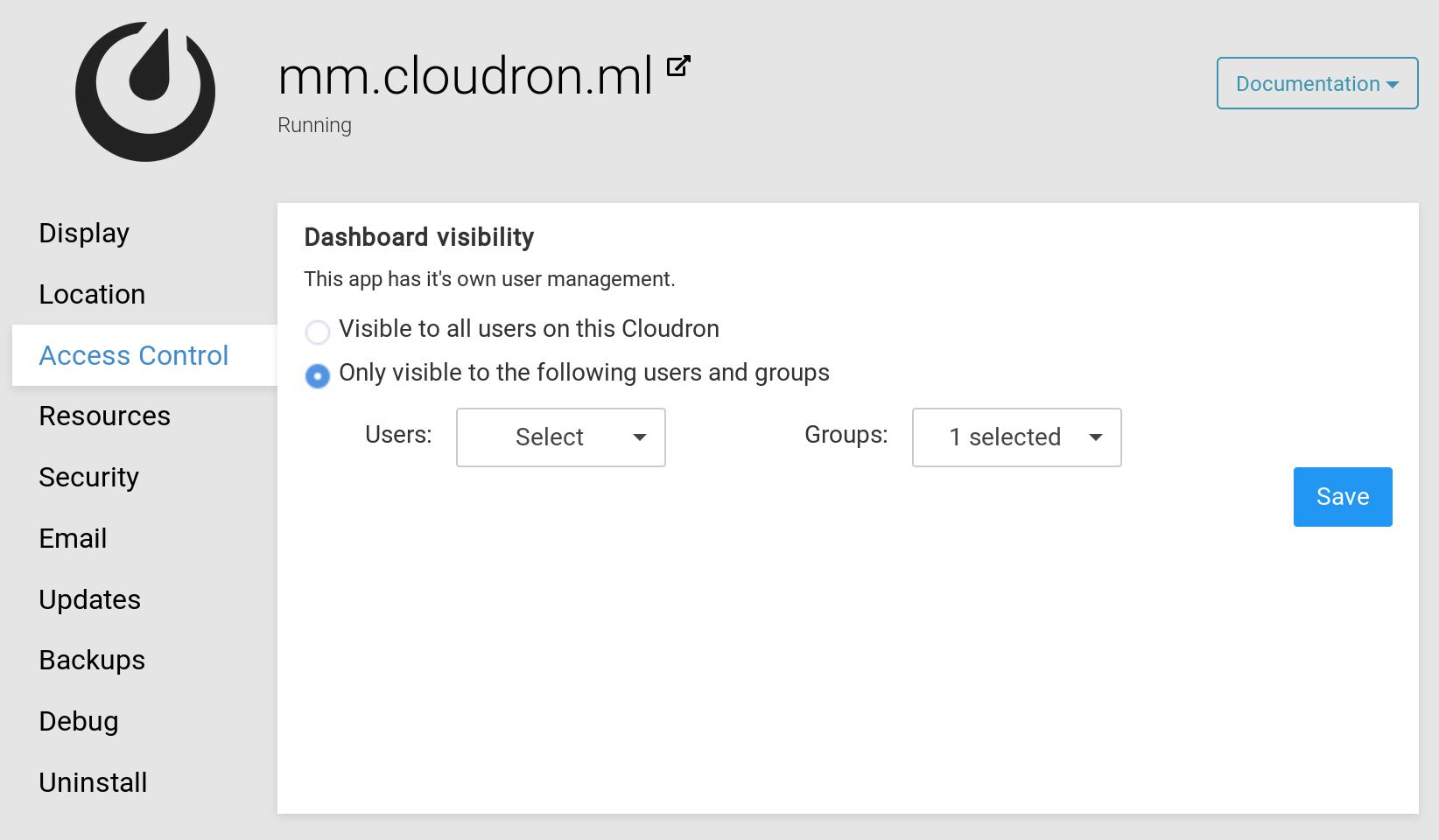 Apps - Cloudron Docs